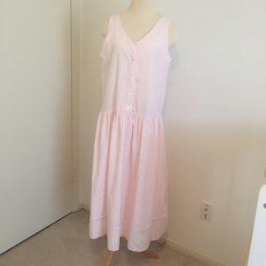 Vintage EUC Saks Fifth Avenue pink midi dress sz 8